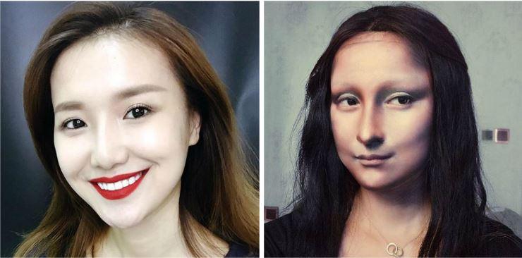 Njihuni me artisten që pikturon 'Mona Lizën' në fytyrën e saj