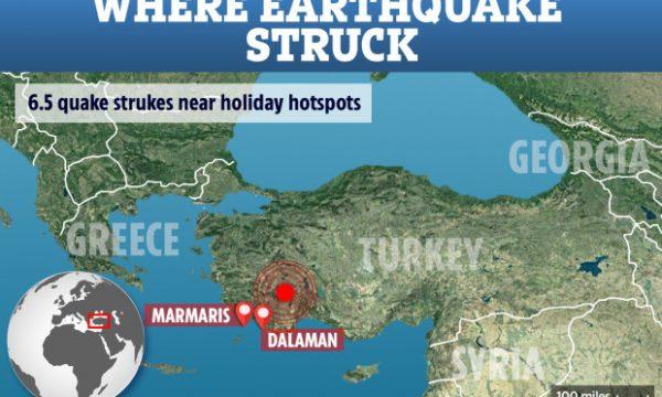 Një tërmet 6.5 ballës godet Turqinë