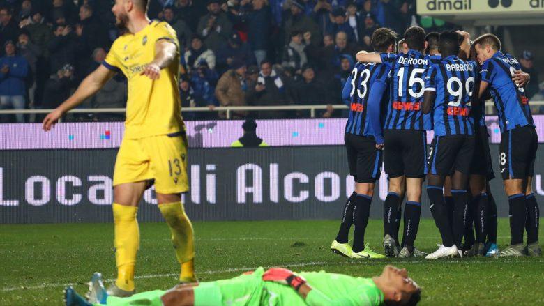 Gjimshiti shënon gol për Atalantën kundër Hellas Veronës së Amir Rrahmanit