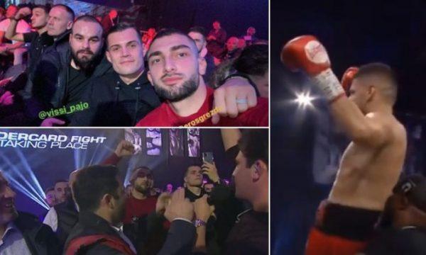 Granit Xhaka dhe Eros Grezda, në tribuna për ta përkrahur boksierin Florian Marku